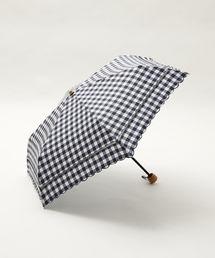 Afternoon Tea(アフタヌーンティー)のスカラップギンガムチェック晴雨兼用折りたたみ傘 日傘(折りたたみ傘)