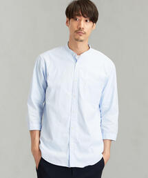 SC ピンオックス バンドカラー 7分袖 / シャツ