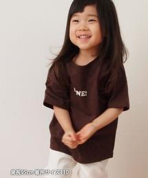 【coen キッズ/ジュニア】1M[ile]ロゴTシャツ