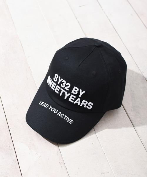 SY32 by SWEET YEARS(エスワイサーティトゥバイスィートイヤーズ)の「【SY32 by SWEET YEARS】TWILL CAP(LOGO)(キャップ)」 ブラック