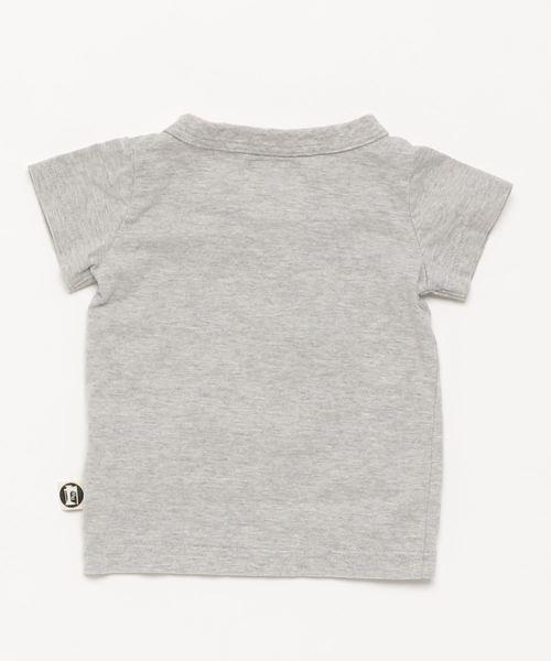 【パパママお揃い】キッズ 切替スイッチOFF半袖Tシャツ