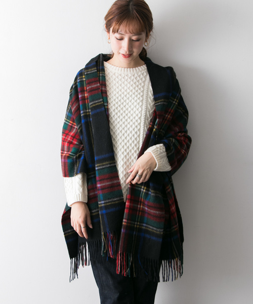 URBAN RESEARCH(アーバンリサーチ)の「TWEED MILL Lambswool Stole(ストール/スヌード)」|ブラック系その他