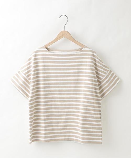 【『リンネル』6月号掲載】ボーダーボートネックTシャツ