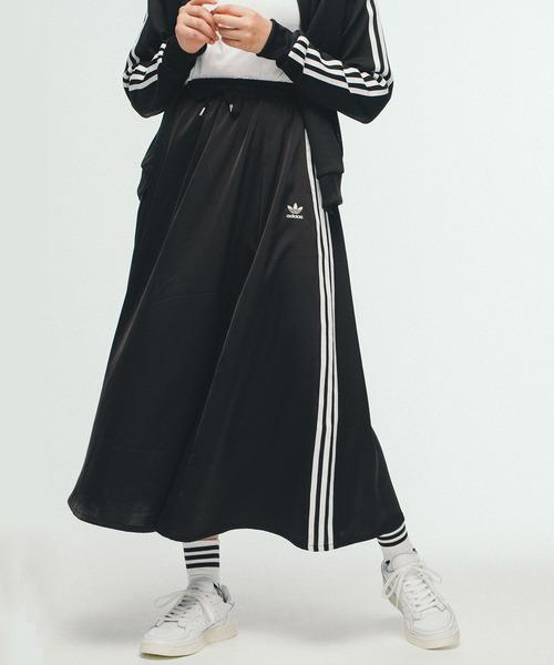 a060c7645f8795 adidas(アディダス)のロング サテン スカート [LONG SATIN SKIRT] アディダスオリジナルス