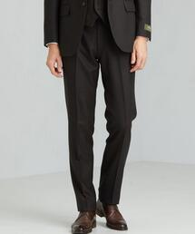 [レダ] REDA バーズアイ スリム ノープリーツ スラックス スーツパンツ