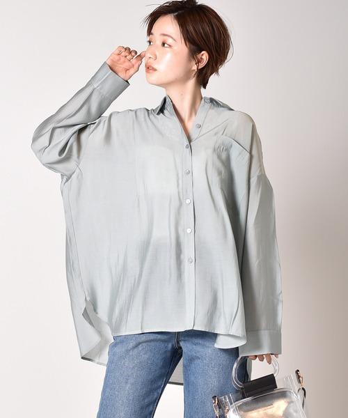 ビッグサテンシャツ