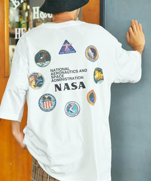 NASA ナサ ビッグシルエット 半袖Tシャツ バックプリントカットソー