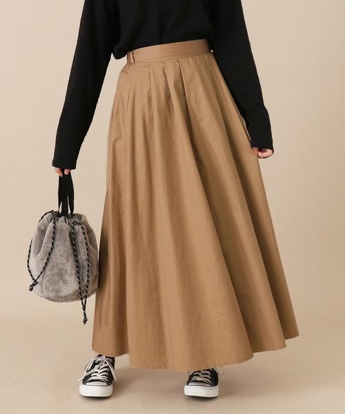 AULI(アウリィ)の「AULIマキシスカート(スカート)」|ベージュ
