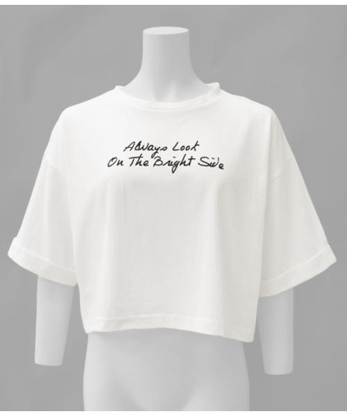 フロントロゴショート丈Tシャツ