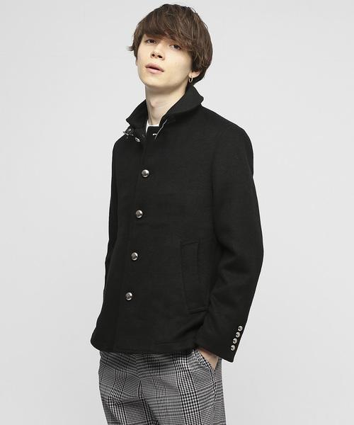ファッションの 【セール】ラウンドカラーシャギーショートPコート(ピーコート) VANQUISH(ヴァンキッシュ)のファッション通販, KYPLAZA:d8e65f09 --- ascensoresdelsur.com