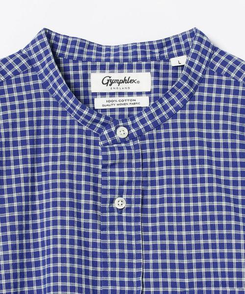 GYMPHLEX / バンドカラー チェックシャツ <MEN>