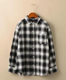 【ジュニア】オンブレーチェックBIGシャツ