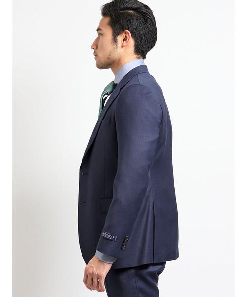 エムエフエディトリアルメンズ/m.f.editorial:MEN×ATSURO TAYAMA トラバルドトーニャ/TRABALDO TOGNA ダイヤゴナル柄ネイビー 3ピース ビジネスセットアップスーツ