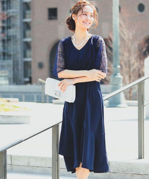 7aa8c7ac649d7 Fashion Letter(ファッションレター)のレースマントワンピースドレス(ドレス)