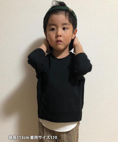 【先行販売・coen キッズ / ジュニア】ミニ裏毛×ワッフルタンクトップ2セット