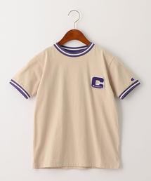 【ジュニア】〔別注〕CHAMPION(チャンピオン)リンガーショートスリーブTシャツ