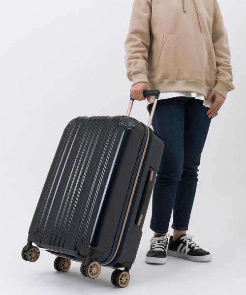 LEGEND WALKER(レジェンドウォーカー)の「拡張機能/アルミコーナーパッド付き 3〜5泊用 ファスナー キャリーケース(スーツケース/キャリーバッグ)」|ネイビー