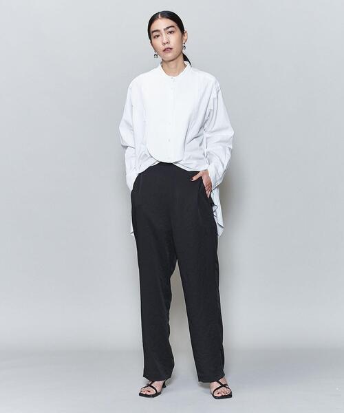 <6(ROKU)>SATIN ZIP PANTS/パンツ