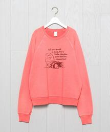 <RE/DONE>PEANUTS FADED SCARLE CLASSIC SWEAT/スウェット.