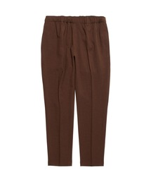 TAPERED EASY PANTSブラウン