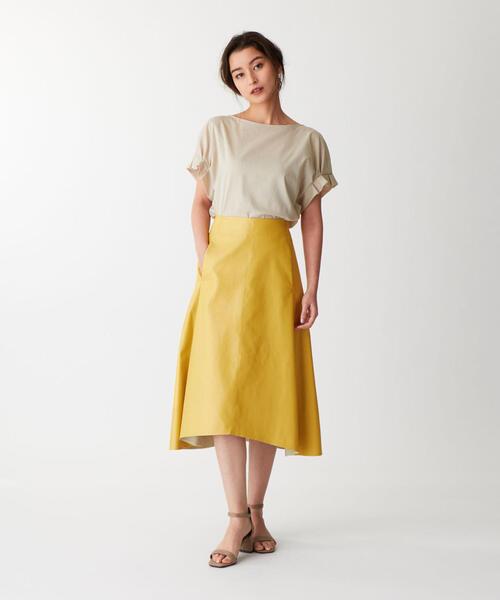 DOUBLE STANDARD CLOTHING(ダブルスタンダード クロージング) フェイクレザー イレヘムスカート
