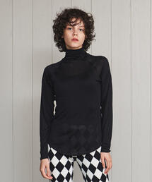 <COCOONA SKINWEAR>SILK TURTLE NECK PULLOVER/カットソー