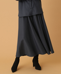 AZUL BY MOUSSY(アズールバイマウジー)の千鳥柄タックギャザーフレアスカート(スカート)