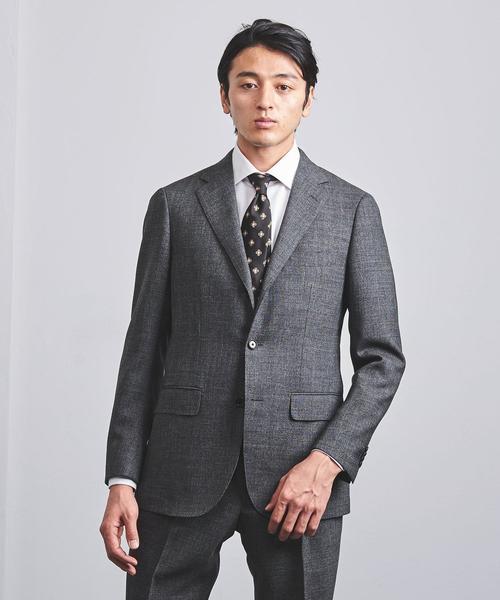 <SOVEREIGN(ソブリン)> グレイ メランジ 3B スーツ