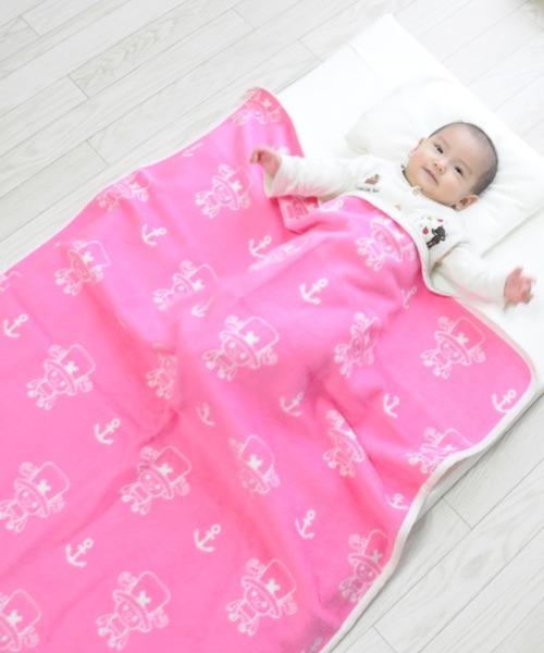 【ワンピース】綿毛布/ベビーケット 約90×120cm