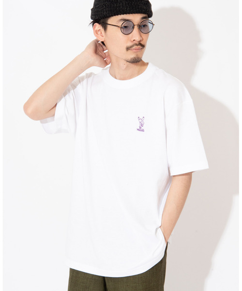 WACHO スケボーベア刺繍 Tシャツ 半袖Tシャツ