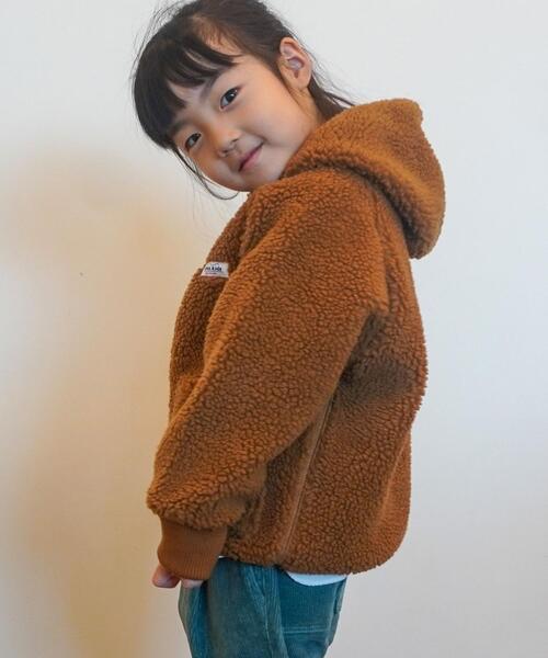 【昨年人気アイテム・coen キッズ / ジュニア】ボアジップパーカー(ボアジャケット)