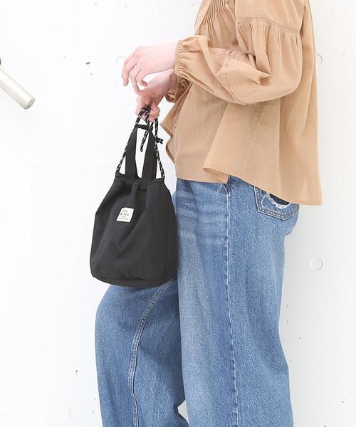 【リバーシブル】ワッシャー巾着バッグ