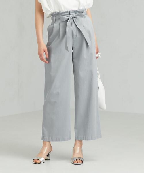 SC コットン/LI チノ タック ワイド パンツ