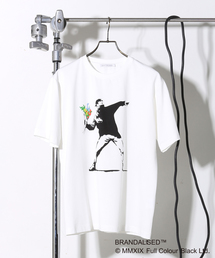 MEN'S MELROSE(メンズ メルローズ)のプリントTシャツ バンクシーFLOWER BOMBER(Tシャツ/カットソー)