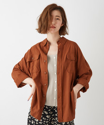 Discoat(ディスコート)のポケット付ビッグシルエットミリタリーシャツ/オーバーシャツ(シャツ/ブラウス)