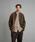 Steven Alan(スティーブンアラン)の「<Steven Alan> 8WALE CORDUROY STAND COLLAR COVERALL/カバーオール(カバーオール)」|モカ