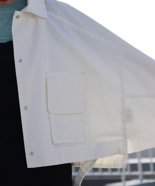 emesuelee(エメスーリー)の「ラグラン スリーブ ショート丈 BIGシルエット ジャケット(カバーオール)」|詳細画像