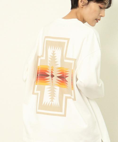 【 PENDLETON / ペンドルトン 】 UNISEX Back Print Long Sleeve ペンドルトン ユニセックス ロングスリーブTシャツ ・・