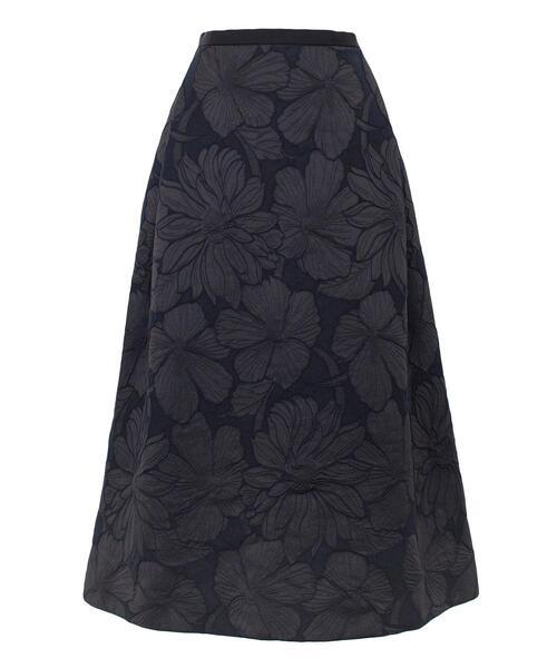Drawer フラワージャカードスカート