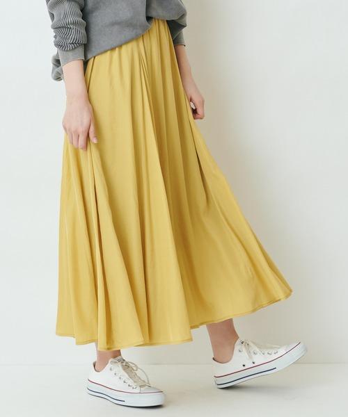 【THE CHIC】ロングマキシフレアスカート