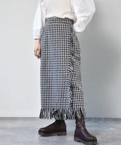 ラップツイードスカート