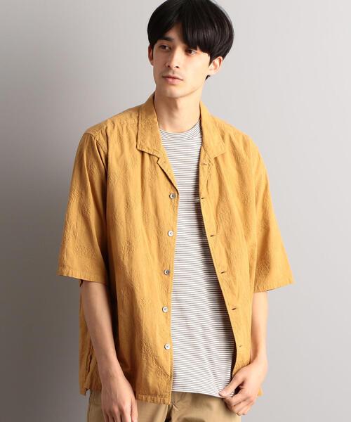 MC G/D エンブロ オープンカラー 半袖 シャツ