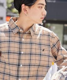 KANGOL(カンゴール)のMONO-MART×KANGOL カンゴール 別注 オーバーサイズチェックシャツ/フランネルシャツ(シャツ/ブラウス)
