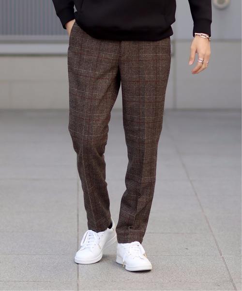 クラシック フラノチェック スリムテーパードパンツ(パンツ)|EDIFICE(エディフィス)のファッション通販, チリュウシ:58dd1a95 --- fahrservice-fischer.de