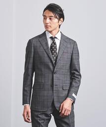 <SOVEREIGN(ソブリン)> メランジ グレンチェック 3B スーツ