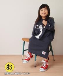 【リンクコーデ・coen キッズ/ジュニア】1M[ile]フットボールTシャツワンピース