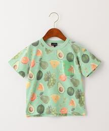 フルーツ総柄プリントTシャツ