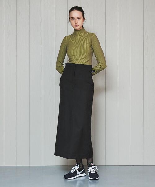 H BEAUTY&YOUTH UNITED ARROWS(エイチビューティー&ユースユナイテッドアローズ)の「<H>TIGHT LONG SKIRT/スカート(スカート)」|ブラック