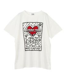 HYS PARTY オーバーサイズTシャツホワイト