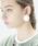 THEATRE PRODUCTS(シアタープロダクツ)の「ラウンドカボション ピアス(ピアス(両耳用))」|アイボリー